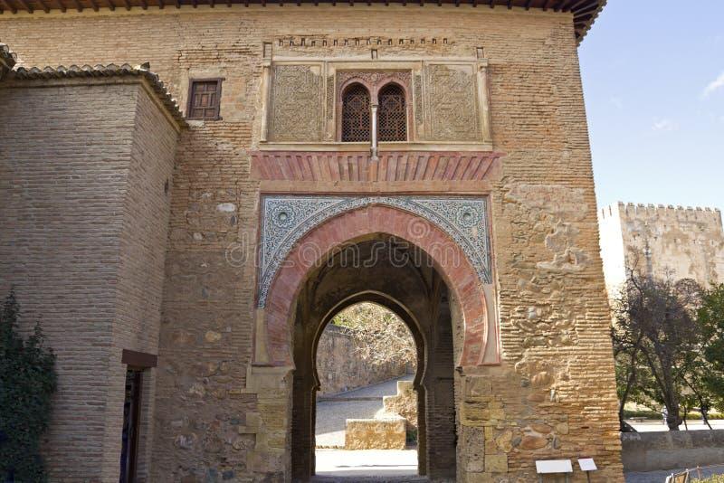 Porte de vin alhambra photographie stock libre de droits