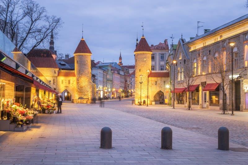 Porte de Viru à Tallinn, Estonie photo libre de droits