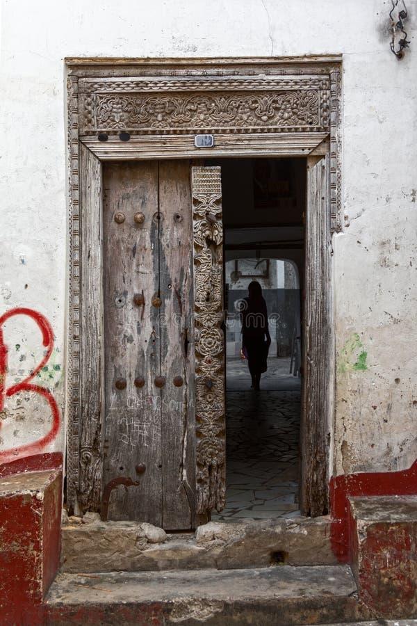 Porte de Zanzibar images stock