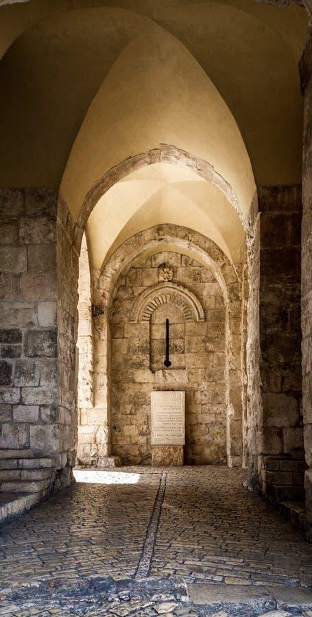 Porte de Zion de Jérusalem, Israël image libre de droits