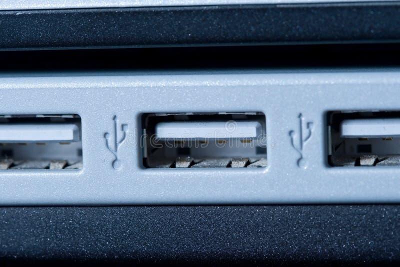 Porte del USB del calcolatore fotografia stock