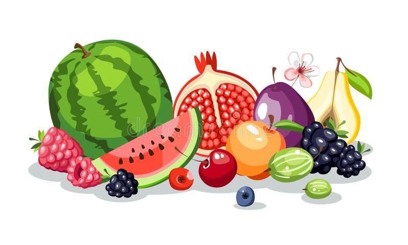 porte des fruits la composition en baies illustration de vecteur