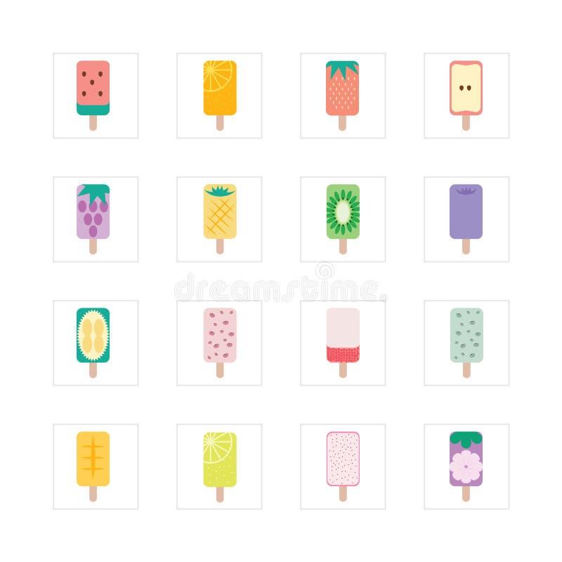 Porte des fruits la crème glacée  illustration libre de droits