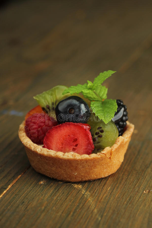 Porte des fruits la tarte photos stock