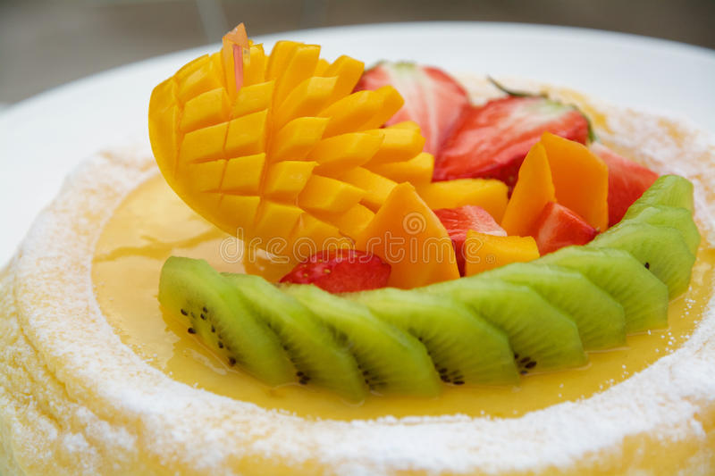 Porte des fruits la tarte photos stock