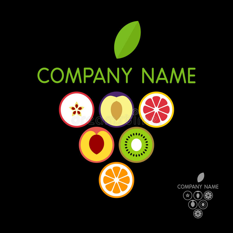 Porte des fruits le calibre de logo (le concept) Illustration de vecteur illustration de vecteur
