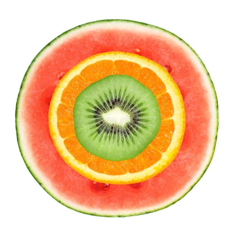 Porte des fruits le fond photo stock