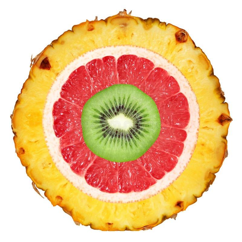 Porte des fruits le fond images stock