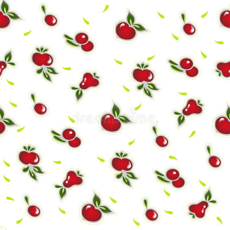 Porte des fruits le modèle sans couture sur le blanc illustration stock