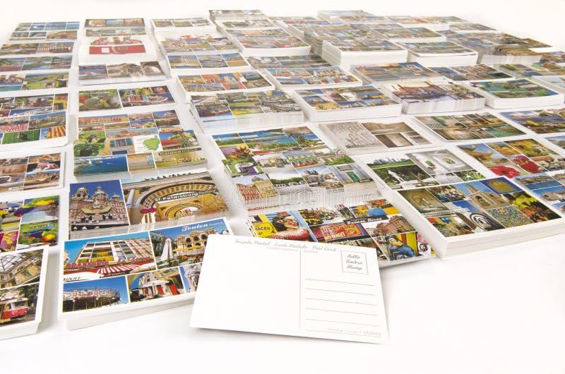 Porte di crociera delle cartoline di chiamata con lo spazio in bianco posteriore immagine stock libera da diritti