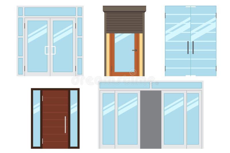 Porte di entrata illustrazione vettoriale