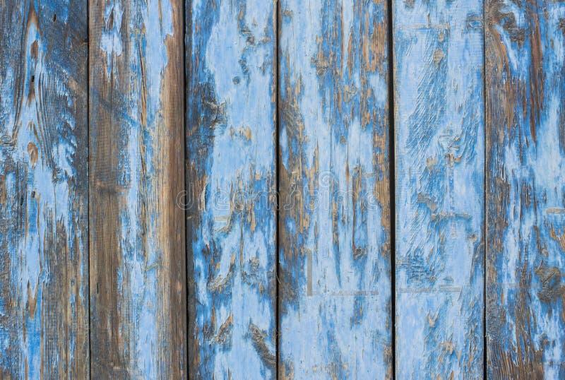 Porte di legno chiazzate pittura di gray blu fotografie stock