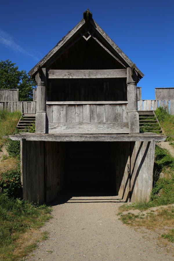 Porte du château dans Trelleborg, Suède photographie stock