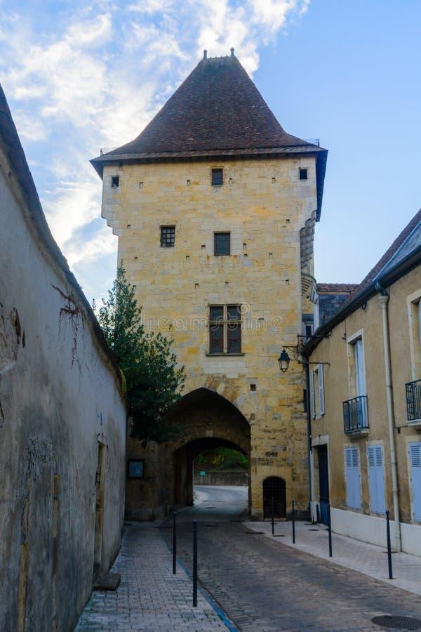 Porte du Croux πύλη σε Nevers στοκ φωτογραφία