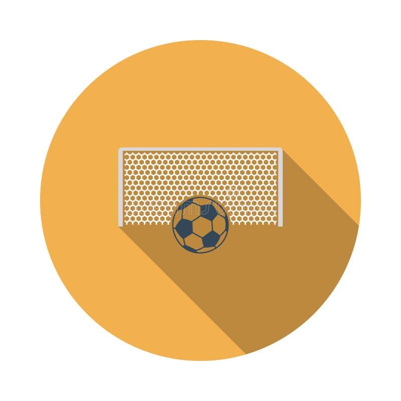 Porte du football avec la boule sur l'ic?ne de point de p?nalit? illustration de vecteur