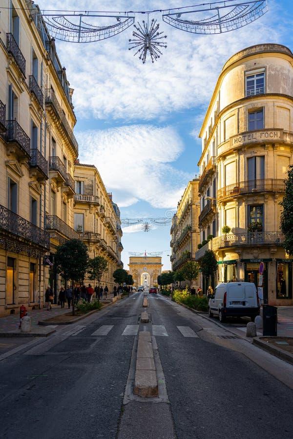 Free Porte Du Peyrou, Arc De Triomphe In Montpellier, France. Royalty Free Stock Photography - 186251237