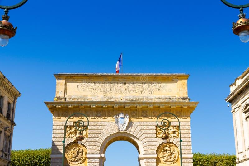 Porte du Peyrou 1693, une porte de ville ? Montpellier, France images libres de droits