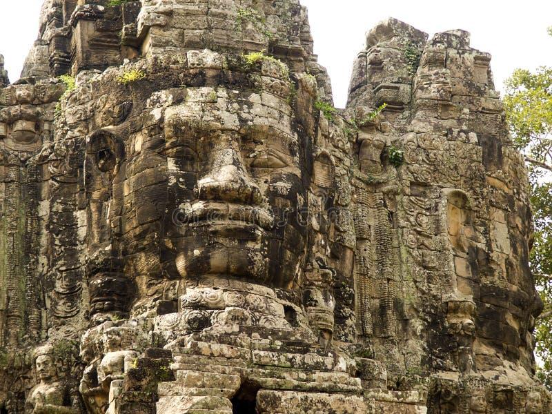 Porte du sud d'Angkor Thom, Cambodge photographie stock