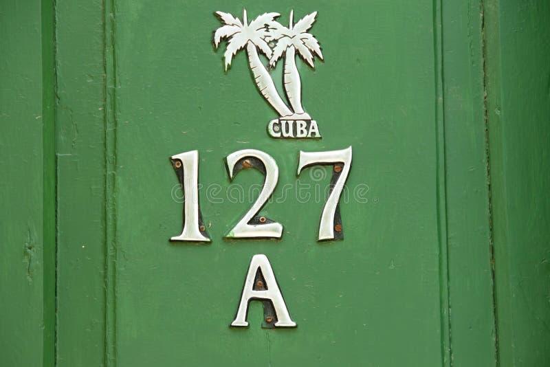 porte du vert 127A - Trinidad - Cuba photo stock
