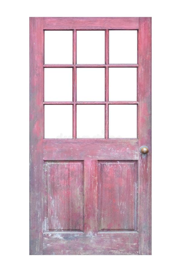 Download Porte en bois d'isolement photo stock. Image du isolement - 87701808