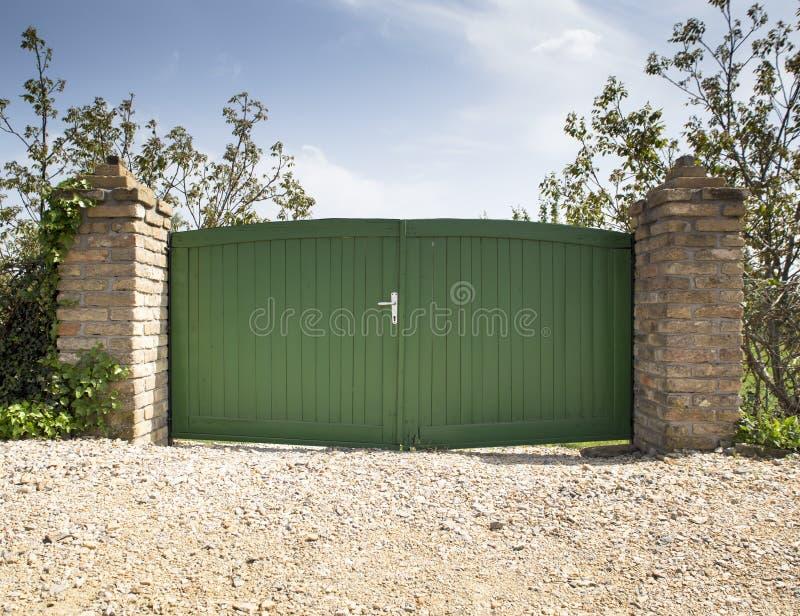 Porte en bois image libre de droits