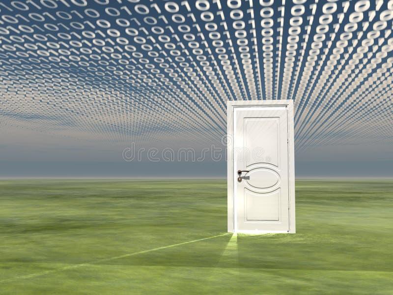 Porte en code binaire illustration de vecteur