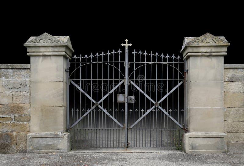 Porte en fer forgé images libres de droits