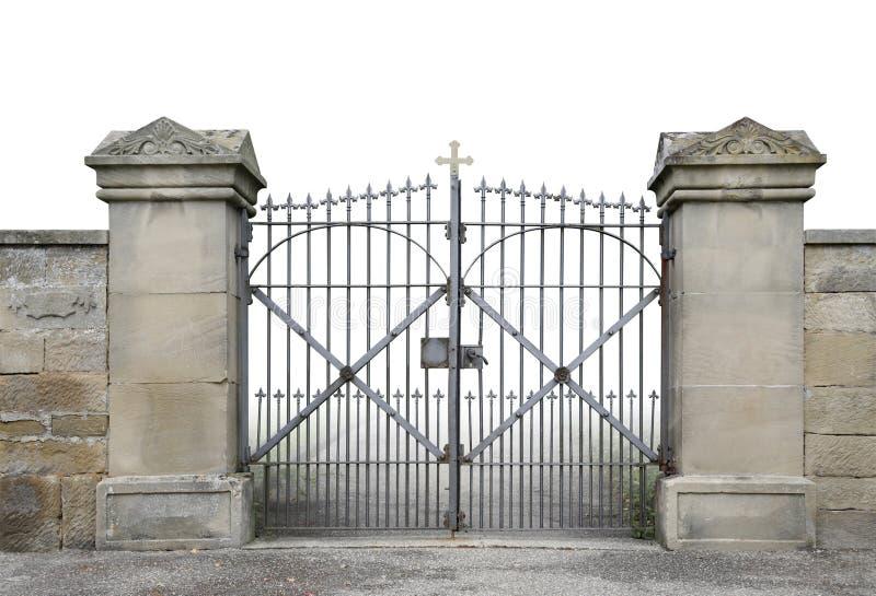 Porte en fer forgé et mur photos libres de droits
