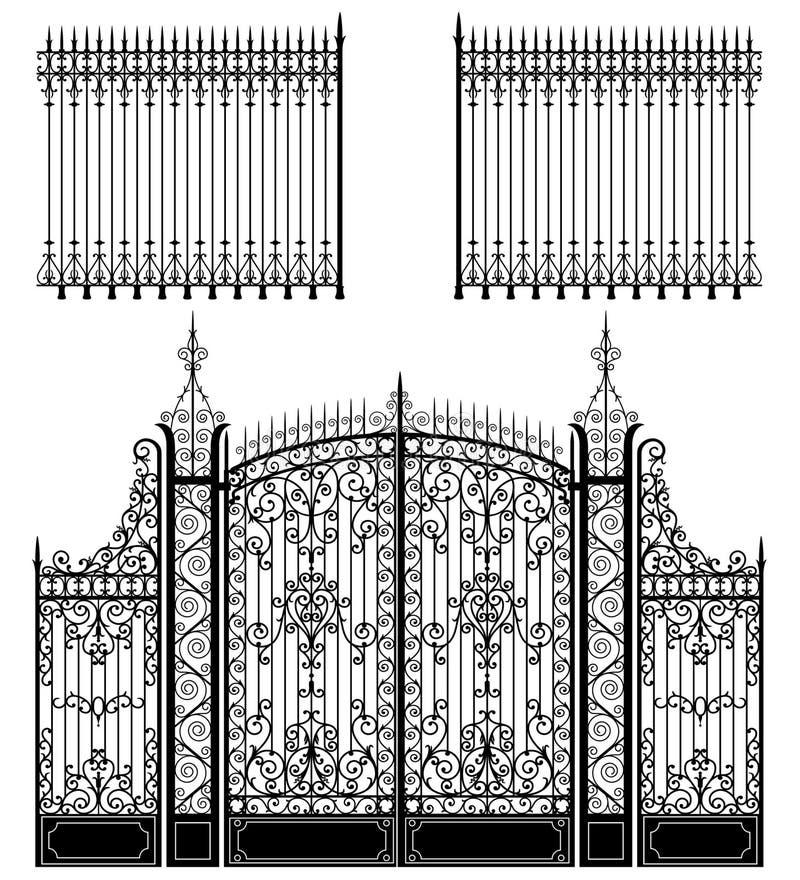 Porte et frontière de sécurité illustration de vecteur
