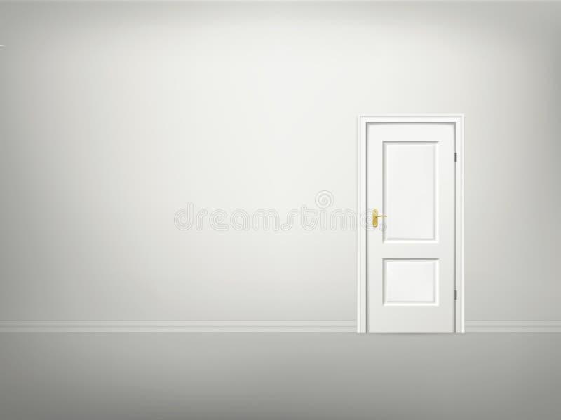 Porte et mur du vecteur 3d illustration stock