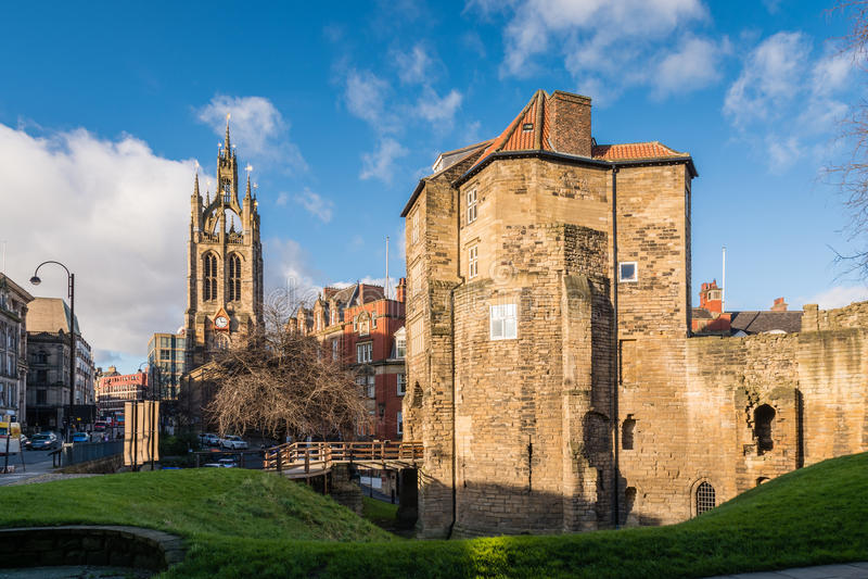 Porte et St noirs Nicholas Cathedral photographie stock libre de droits