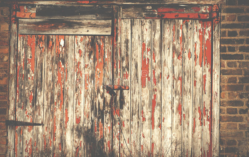 Porte externe de garage de maison de vintage dans Islington Londres R-U photos libres de droits