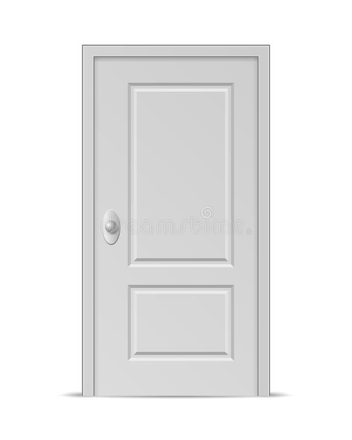 Porte fermée illustration stock