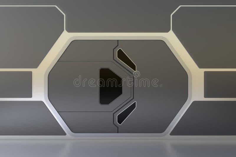Porte futuriste illustration libre de droits