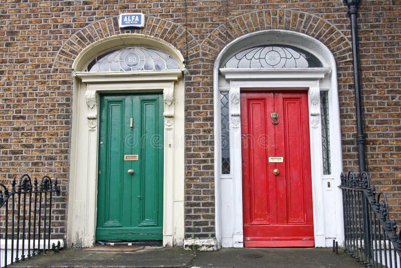 Porte georgiane, Dublino, Irlanda immagine stock libera da diritti