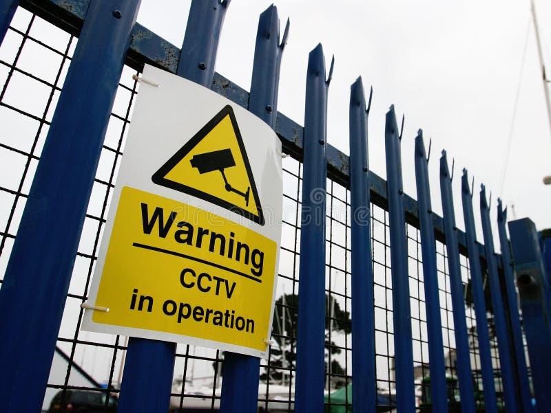 Porte industrielle de frontière de sécurité d'usine image libre de droits