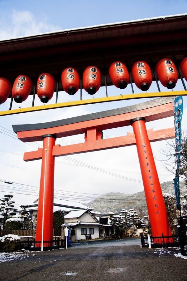 Porte japonaise de temple photo stock