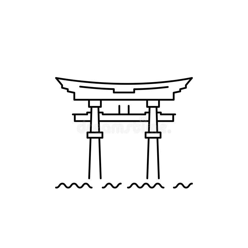 Porte japonaise, porte de temple sur le lac Biwa photos libres de droits