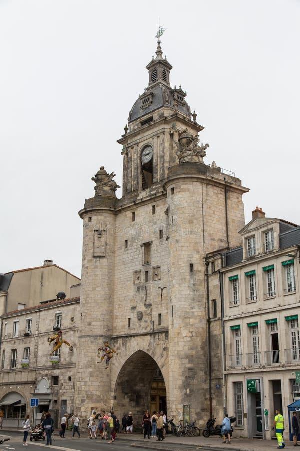 Porte La Rochelle, panorama d'horloge de Frances photo libre de droits