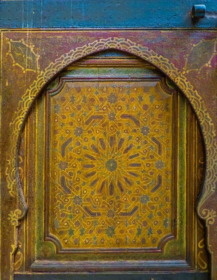 Porte marocaine antique image libre de droits