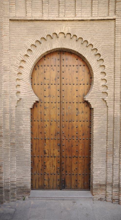 Porte mauresque à Toledo photo libre de droits