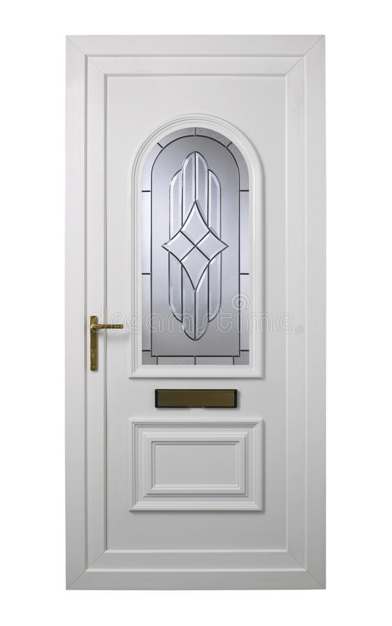 Porte moderne de pvc de blanc photo stock image du letterbox isolement 32681862 - Remplacement panneau porte pvc ...