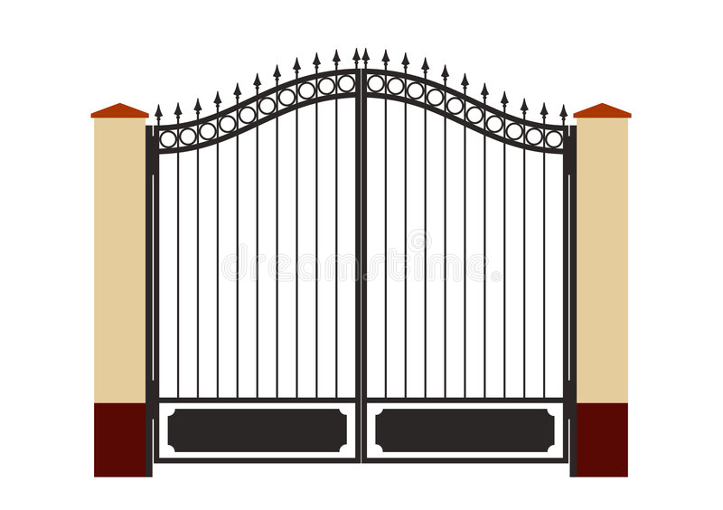 Porte modifiée de fer illustration de vecteur