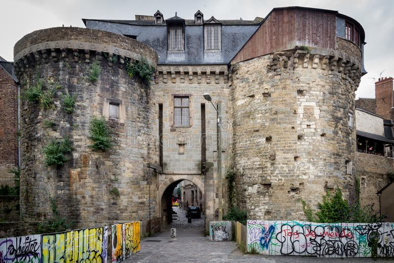 Porte Mordelaise, Ренн стоковые фотографии rf
