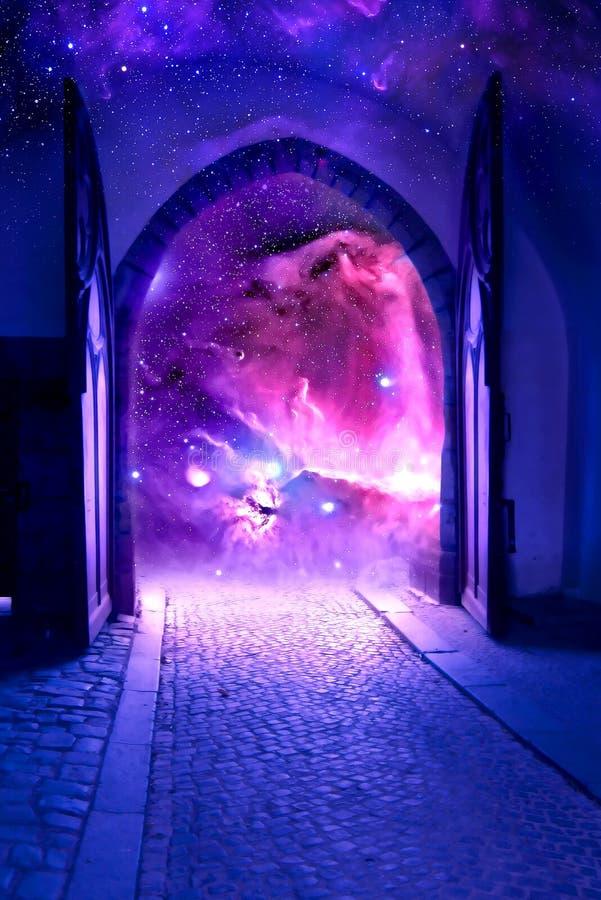 Porte mystique images stock