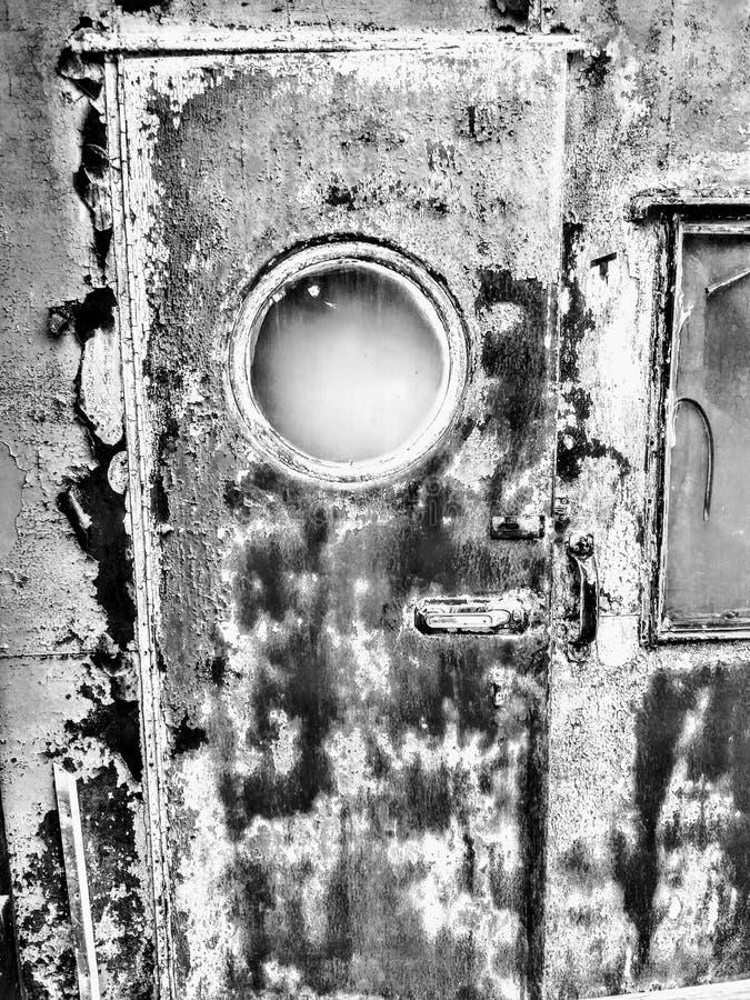Porte noire et blanche image libre de droits