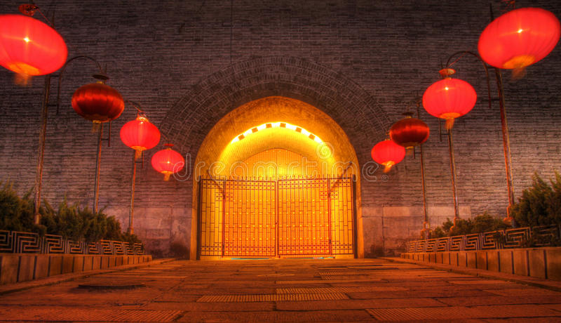 Porte occidentale de mur de ville de Xian photo libre de droits