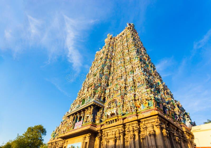 Porte occidentale H de tour de temple de Madurai Meenakshi Amman images stock