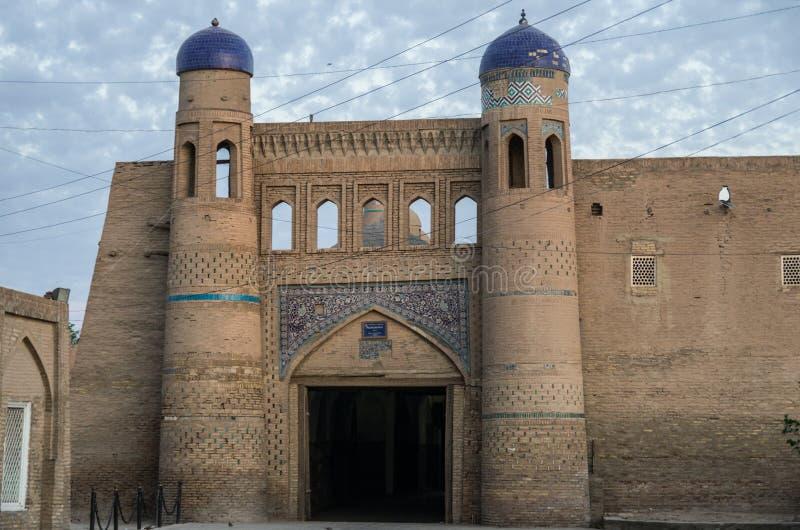 Porte occidentale (Palvan Darvoza) de vieille ville de Khiva, Itchan Kala Khiva photos libres de droits