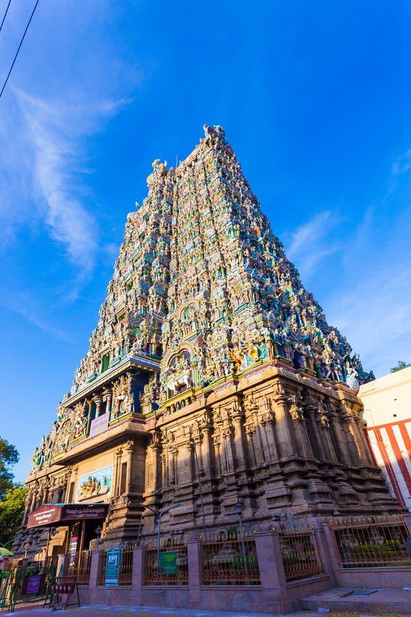 Porte occidentale V de tour de temple de Madurai Meenakshi Amman photo libre de droits